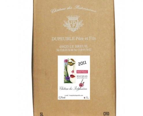 notre beaujolais nouveau en format bag in box