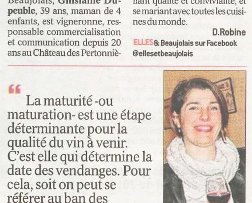 Le Progres 2017-09-13 Maturite Maturation Ghislaine Dupeuble