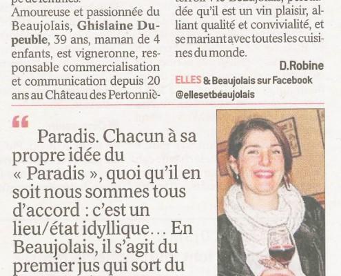 Le Progres 2017-09-22 Paradis Ghislaine Dupeuble