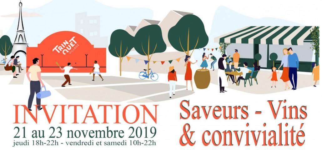 Inviation PDF Beaujolais Nouveau Dupeuble Chateau Pertonnieres Trinquet Village Paris