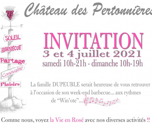 Haut - Invitation Barbecue Chateau Pertonnieres Beaujolais Dupeuble 2021