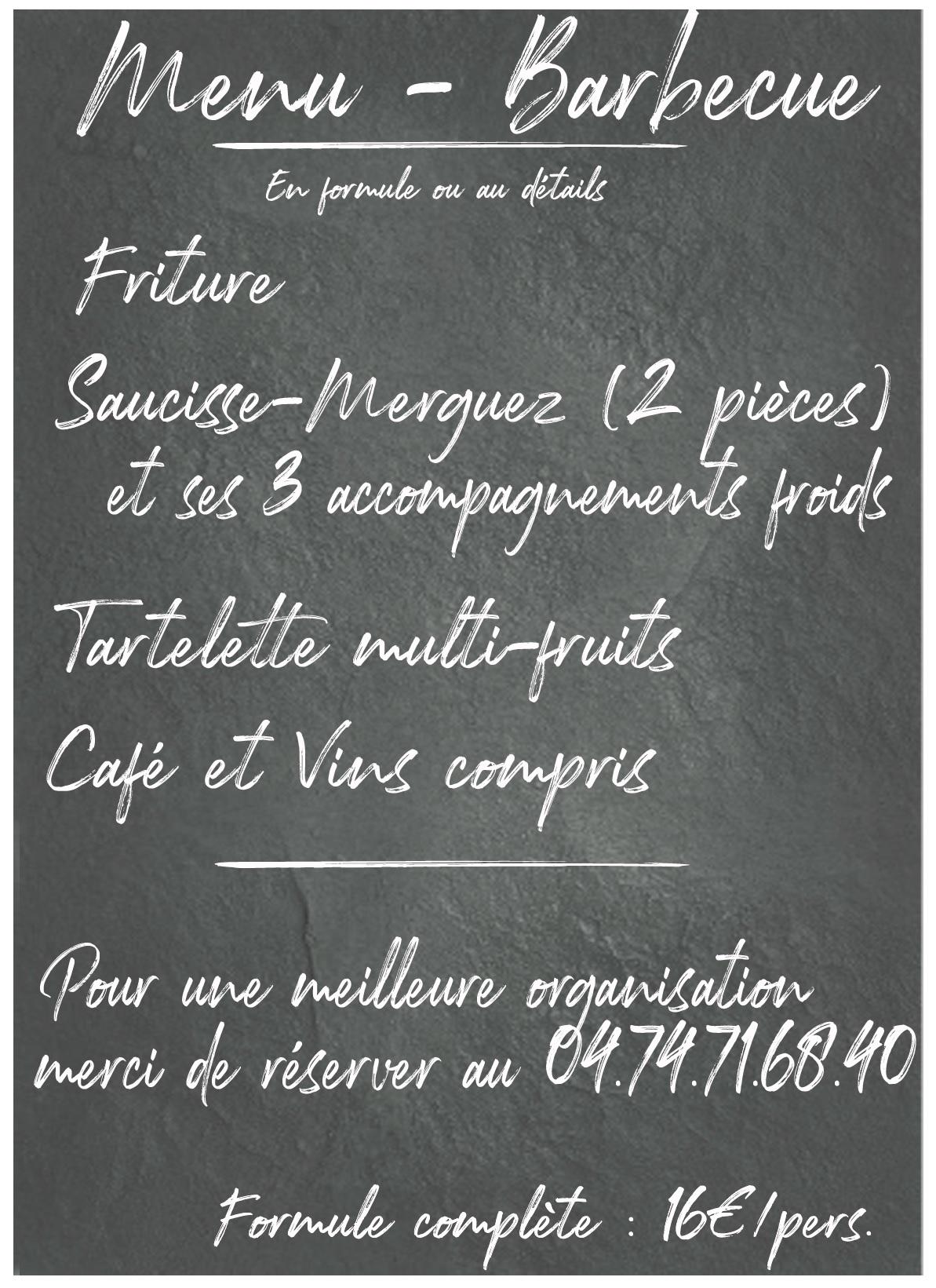 Menu- Invitation Barbecue Chateau Pertonnieres Beaujolais Dupeuble 2021